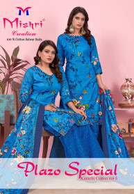 Mishri Plazzo Special Vol 5 Cotton Dress Materials