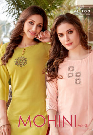 Mittoo Mohini Vol 3 Rayon 3pcs Kurtis Catalog