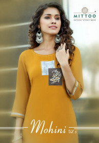 Mittoo Mohini Vol 5 Heavy Rayon Kurtis With Pant