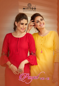 Mittoo Payal Vol 12 Rayon 14KG Classic Kurtis