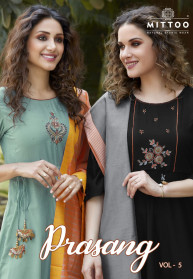Mittoo Prasang Vol 5 Muslin Kurtis With Dupatta