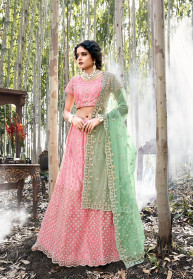 Heavy Designer Embroidered Net Lehenga Choli
