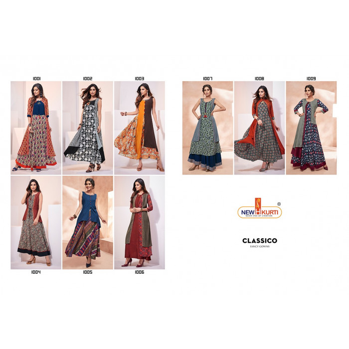 Neha Fashion Classico Muslin Fancy Long Gowns