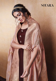 Nitara Lotus Silk Gowns With Dupatta Collection