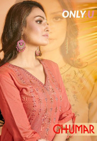 Only U Ghumar Muslin Two Tone Kurtis Catalog