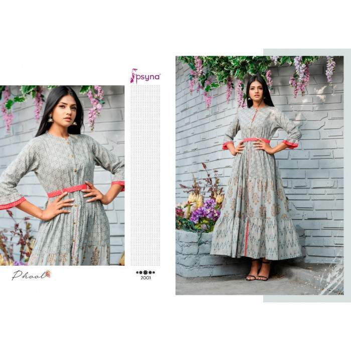 Psyna Phool Vol 2 Cotton Slub Fancy Gowns