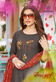 R Studio Desi Girl Vol 1 Rayon Kurtis