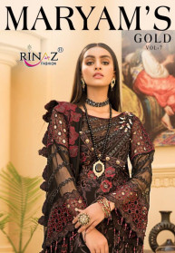 Rinaz Maryams Gold Vol 7 Fox Georgette Salwar Suits