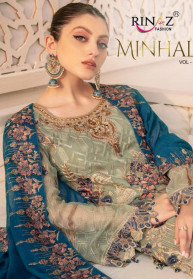 Rinaz Minhal Vol 4 Fox Georgette Salwar Suits