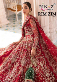 Rinaz Rim Zim Vol 8 Butterfly Net Pakistani Suits