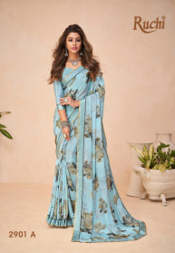 Ruchi Golden Touch Crape Sarees New Collection
