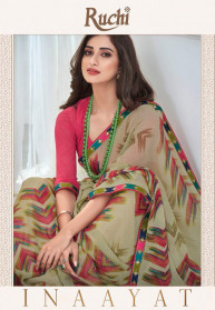 Ruchi Inaayat Georgette Indian Sarees Catalog