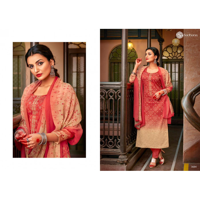 Sadhana Vol 35 Pure Jam Dress Materials Online