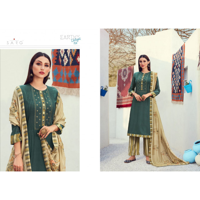 Sahiba Earthy Viscose Slub Dress Materials