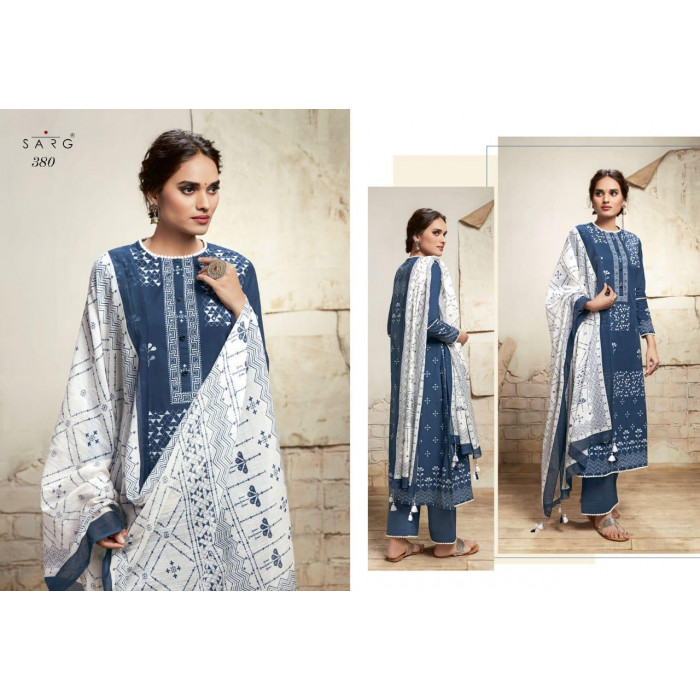 Sarg Nayyirah Cotton Lawn Dress Materials