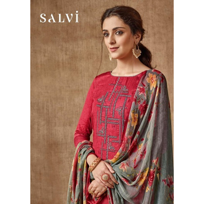 Sargam Salvi Pure Jam Printed Dress Materials