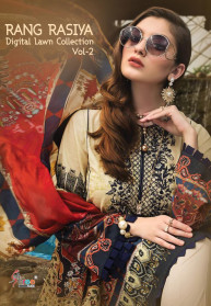 Shree Fabs Rangrasiya Digital Lawn Vol 2 Salwar Suits