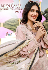 Shree Fabs Adan Libaas Schiffli Vol3 Salwar Suits