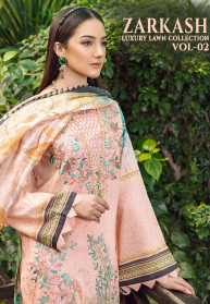 Shree Fabs Zarkash Luxury Lawn Vol 2 Salwar Suits