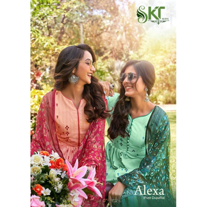 Skt Alexa Jam Cotton Designer Dress Materials