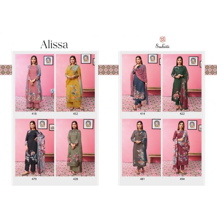 Sudriti Alissa Cotton Satin Print Dress Materials