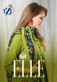 Tzu Elle Cotton Round Cut Kurtis With Scarf/Jacket