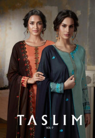 Taslim Vol 7 Pure Viscose Upada Silk Salwar Suits