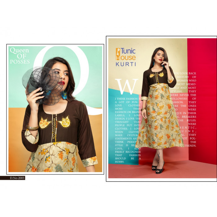 Tunic House Pubg Fancy Rayon Kurtis