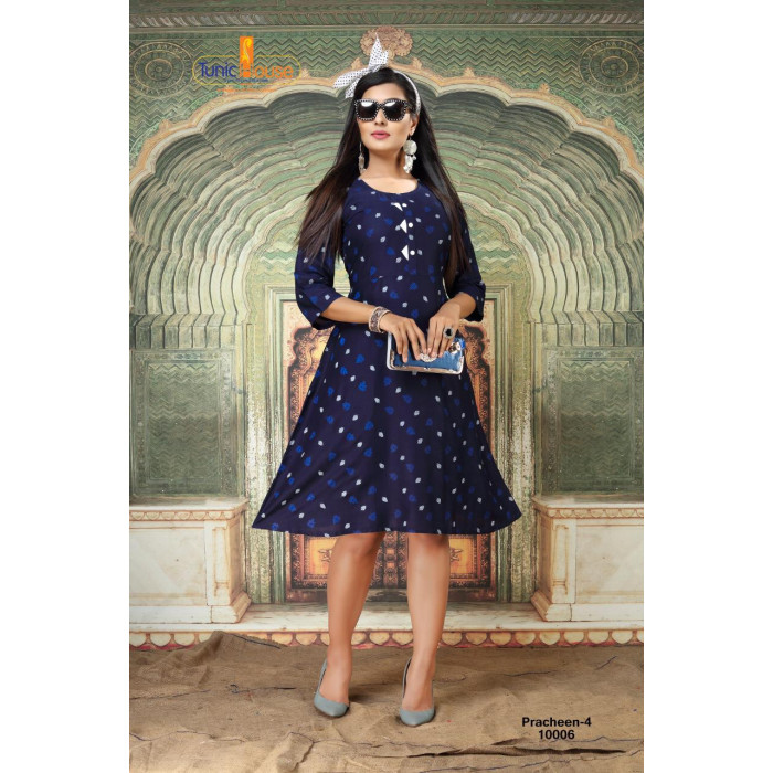 Tunic House Pracheen Vol 4 Rayon Kurtis Set