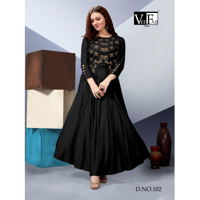 VF Milano Rayon Readymade Fancy Kurtis