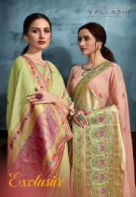 Vallabhi Exclusive Brasso Fancy Sarees