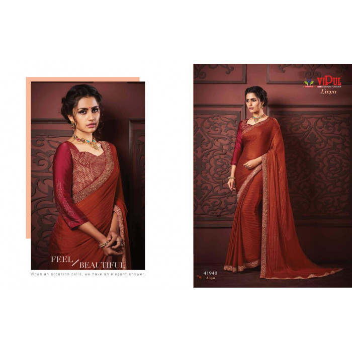 Vipul Livya Fancy Sarees Collection