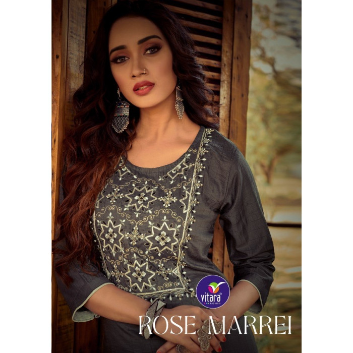 Vitara Rose Marrei Maska Lining Kurtis With Pent