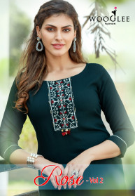 Wooglee Rose Vol 2 Heavy Rayon Kurtis With Sharara