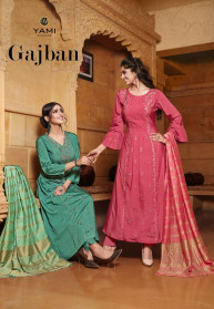 Yami Fashion Gajban Viscose Gown With Dupatta