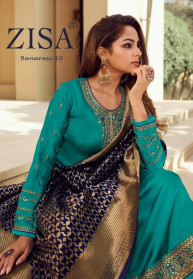 Zisa Banarasi Vol 10 Satin Georgette Salwar Suits