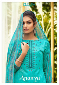 Zulfat Ananya Pure Jam Cotton Dress Materials