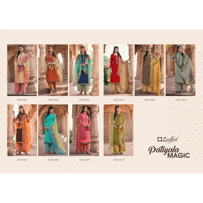 Zulfat Patiyala Magic Jam Cotton Dress Materials