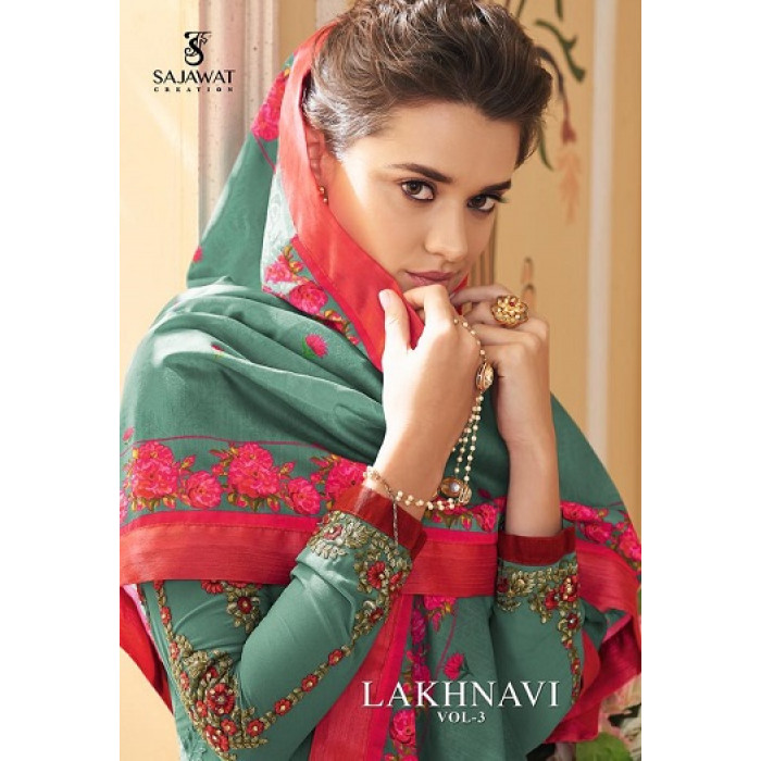 Sajawat Lakhnavi Vol 3 Georgette Salwar Suits