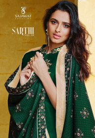 Sajawat Sarthi Vol 8 Muslin Embroidery Gowns