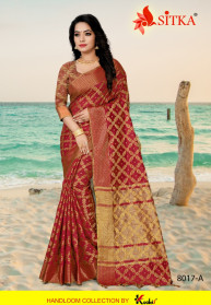 Sitka Silent 8017 Silk Party Sarees Collection