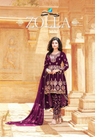 Your Choice Zolla Georgette Heavy Salwar Suits